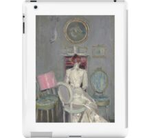 Paul- César Helleu (French,  ) Madame Helleu at her office iPad Case/Skin