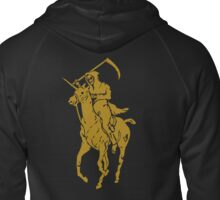 grim reaper polo back Zipped Hoodie