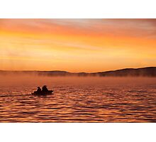 Fishermen on the lake Photographic Print
