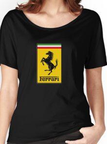 Ferrari Logo Women's Relaxed Fit T-Shirt
