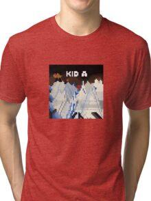 Kid A Pixel Art Tri-blend T-Shirt