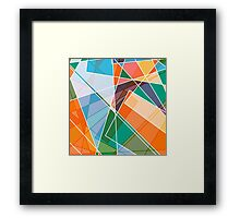 Retro styled abstract Framed Print