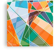 Retro styled abstract Canvas Print