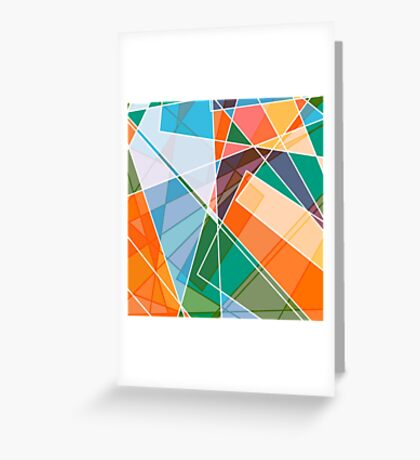Retro styled abstract Greeting Card