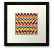 Zig zag ethnic pattern Framed Print
