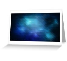 blue triangle abstract retro hipster Greeting Card
