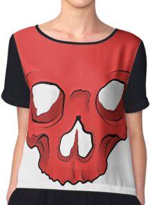 Red Skull Chiffon Top