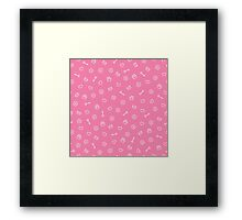 cute seamless valentine pattern Framed Print