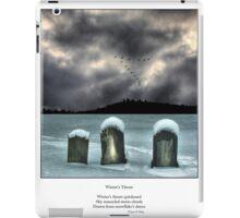 Winter's Thrust Haiku iPad Case/Skin