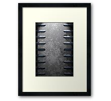 Metal railings and stone texture Framed Print