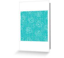 blue rose seamless pattern Greeting Card