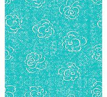 blue rose seamless pattern Photographic Print