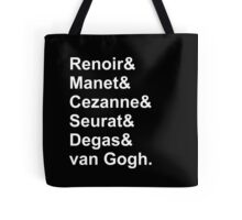 Modern Artists, Impressionists & Post-Impressionists Tote Bag