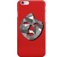 Monochrome/Red Geometric Face Print. iPhone Case/Skin
