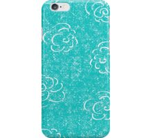 blue rose seamless pattern iPhone Case/Skin