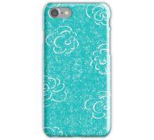 blue rose seamless pattern iPhone Case/Skin
