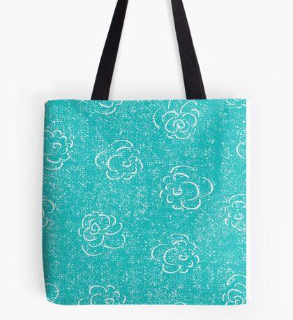 blue rose seamless pattern Tote Bag