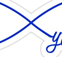 Forever young, blue infinty sign Sticker