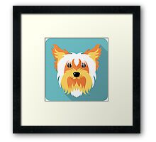 dog Yorkshire terrier icon Framed Print