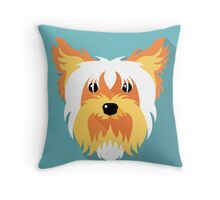 dog Yorkshire terrier icon Throw Pillow