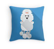 Poodle icon flat design  Throw Pillow