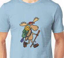 Funny Cool Moose Hiker Unisex T-Shirt
