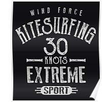 Kitesurf 30 Knots Extreme Sport Poster