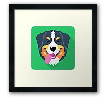 Bernese Mountain Dog icon  Framed Print