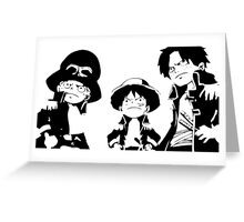 """A S L """"one piece'  Greeting Card"""