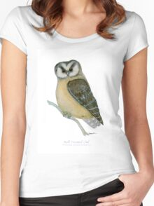 Buff Fronted Owl, tony fernandes Women's Fitted Scoop T-Shirt