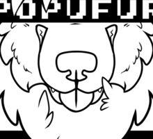 POPUFUR -white text- Sticker