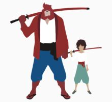 The boy and the beast - Father and son  (Wall art and shirts) One Piece - Short Sleeve