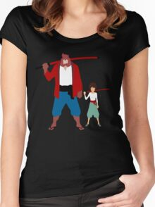 The boy and the beast - Father and son  (Wall art and shirts) Women's Fitted Scoop T-Shirt