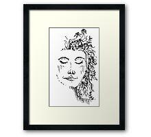 Flowers in Your Hair Framed Print