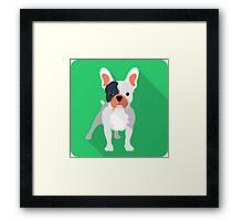 French bulldog icon  Framed Print