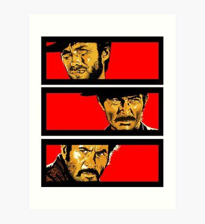 Western duel Art Print