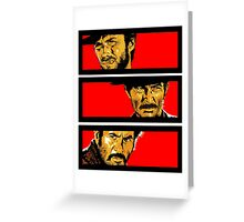 Western duel Greeting Card