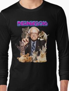 bernie with cats Long Sleeve T-Shirt