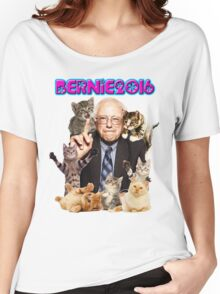bernie with cats Women's Relaxed Fit T-Shirt