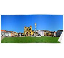 timisoara union square panorama Poster
