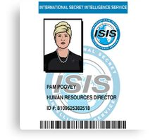 Pam Poovey ID Badge Canvas Print