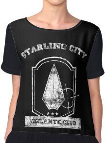 Starling City Vigilante Club Chiffon Top