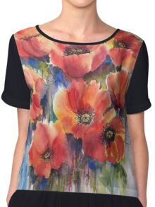Ladies in Red Chiffon Top