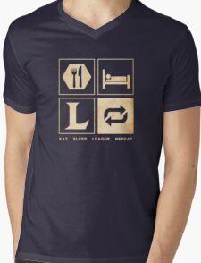 Eat. Sleep. League. Repeat. Mens V-Neck T-Shirt
