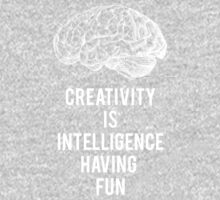 creativity is intelligence having fun One Piece - Long Sleeve