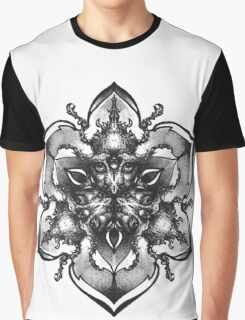 INSAMNIA's Owl and Beetle mandala Graphic T-Shirt