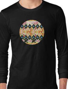 Folkloric Crazy Quilt Boho Long Sleeve T-Shirt