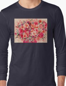 Cottage Roses Long Sleeve T-Shirt