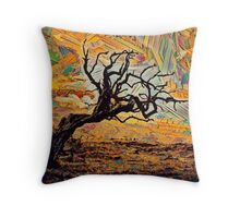 One tree, one sky. Throw Pillow