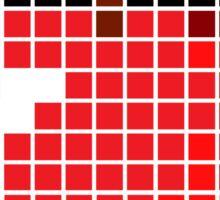 8 bit pixel apple Sticker